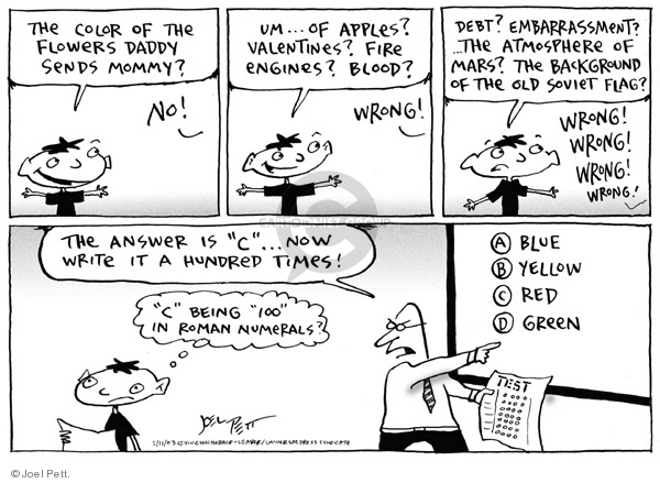Joel Pett  Joel Pett's Editorial Cartoons 2003-02-11 answer