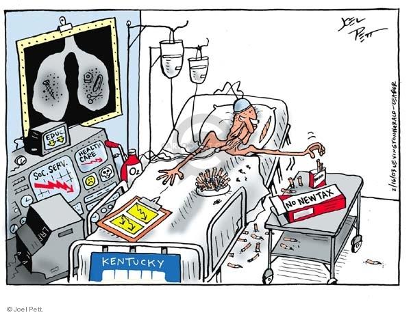 Cartoonist Joel Pett  Joel Pett's Editorial Cartoons 2003-02-16 state