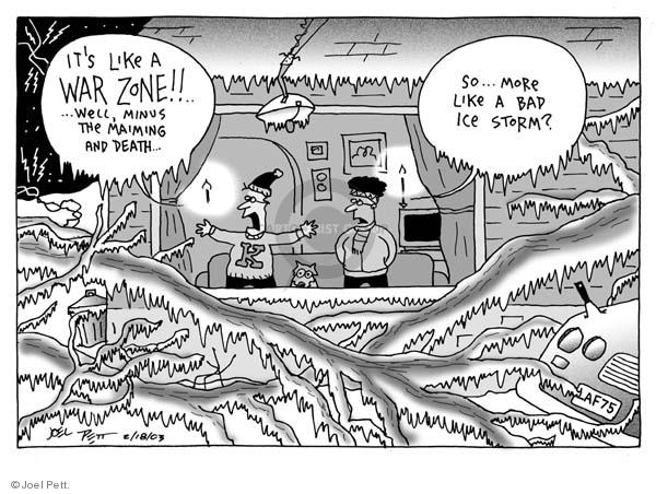 Cartoonist Joel Pett  Joel Pett's Editorial Cartoons 2003-02-18 bad dog