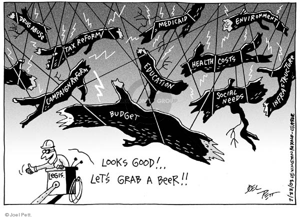 Joel Pett  Joel Pett's Editorial Cartoons 2003-02-22 tax reform