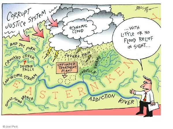 Cartoonist Joel Pett  Joel Pett's Editorial Cartoons 2003-02-23 political corruption