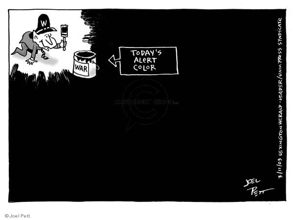 Cartoonist Joel Pett  Joel Pett's Editorial Cartoons 2003-03-11 national security