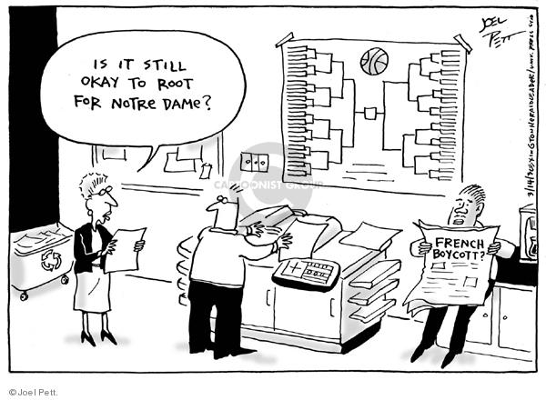 Joel Pett  Joel Pett's Editorial Cartoons 2003-03-16 dame