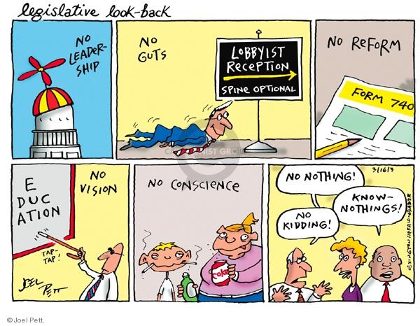 Cartoonist Joel Pett  Joel Pett's Editorial Cartoons 2003-03-16 inaction