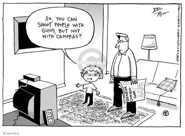 Cartoonist Joel Pett  Joel Pett's Editorial Cartoons 2003-03-26 photo