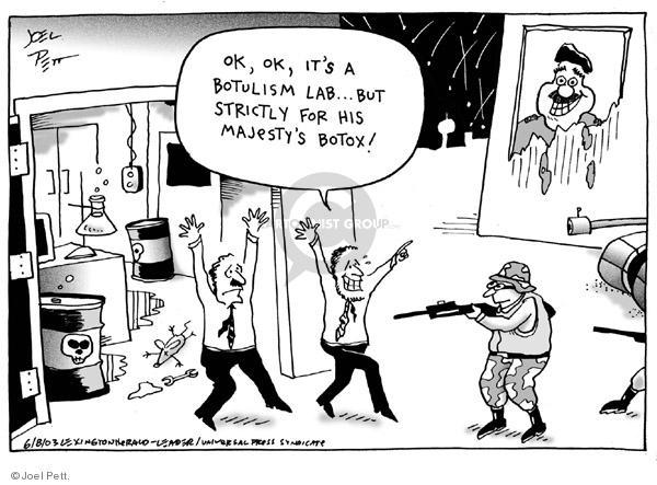 Joel Pett  Joel Pett's Editorial Cartoons 2003-04-08 surgery