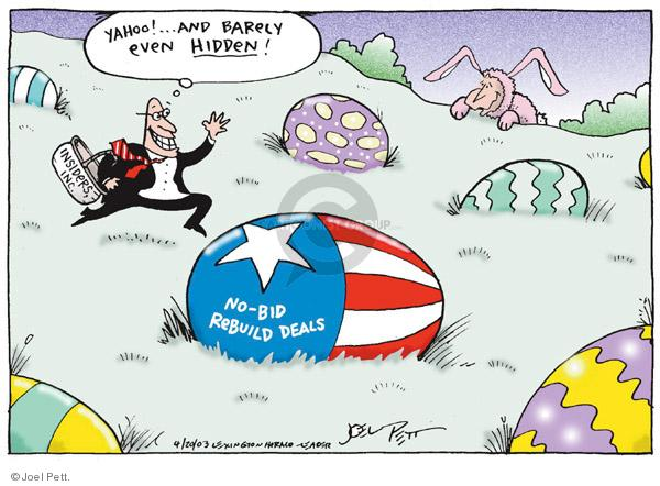 Joel Pett  Joel Pett's Editorial Cartoons 2003-04-20 no interest