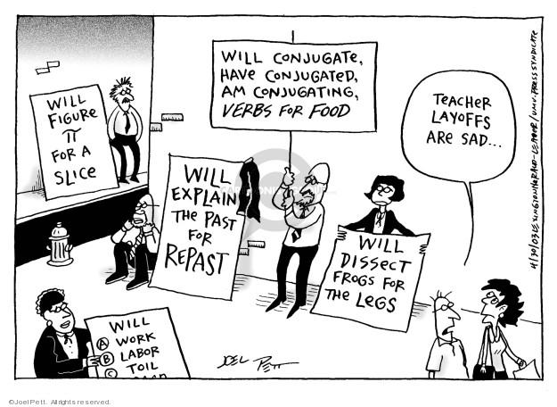 Joel Pett  Joel Pett's Editorial Cartoons 2003-04-30 budget