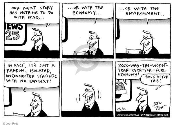 Cartoonist Joel Pett  Joel Pett's Editorial Cartoons 2003-05-07 standard