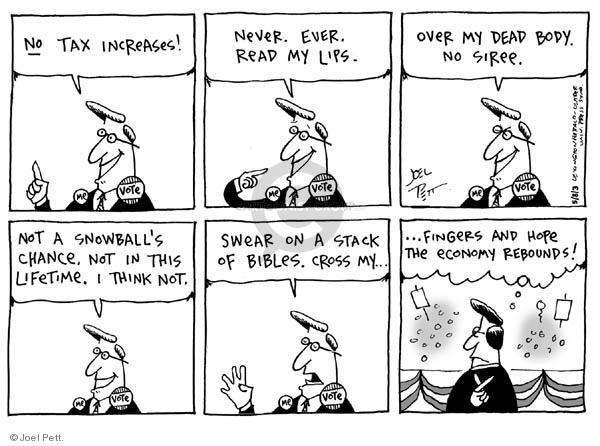 Joel Pett  Joel Pett's Editorial Cartoons 2003-05-08 tax pledge