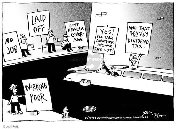 Joel Pett  Joel Pett's Editorial Cartoons 2003-05-15 effect
