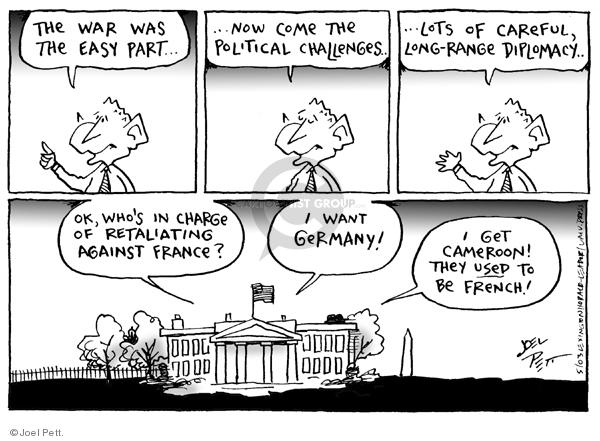 Cartoonist Joel Pett  Joel Pett's Editorial Cartoons 2003-05-21 state