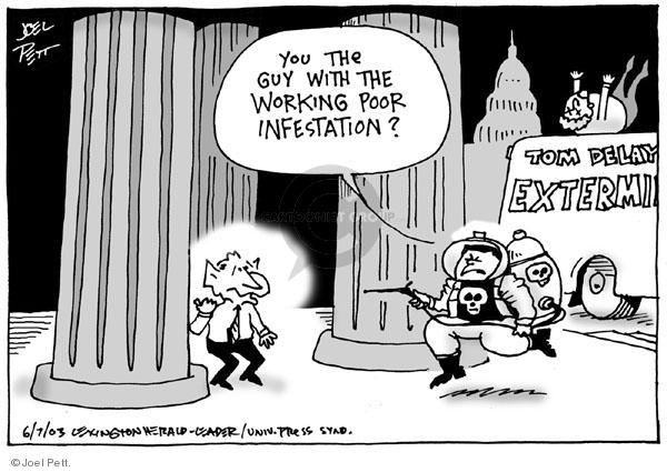 Joel Pett  Joel Pett's Editorial Cartoons 2003-06-07 corruption