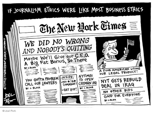 Joel Pett  Joel Pett's Editorial Cartoons 2003-06-11 media credibility
