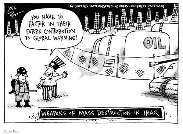 Cartoonist Joel Pett  Joel Pett's Editorial Cartoons 2003-06-13 Iraq oil