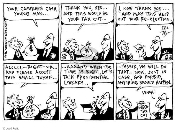 Cartoonist Joel Pett  Joel Pett's Editorial Cartoons 2003-06-27 case