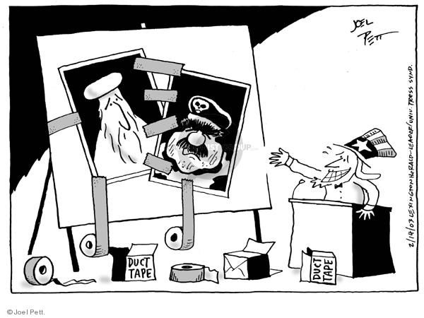 Cartoonist Joel Pett  Joel Pett's Editorial Cartoons 2003-02-14 photo