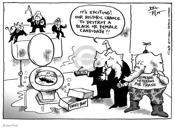 Cartoonist Joel Pett  Joel Pett's Editorial Cartoons 2008-05-16 women candidates
