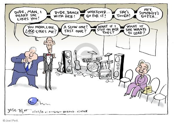 Cartoonist Joel Pett  Joel Pett's Editorial Cartoons 2008-05-25 Bill Clinton
