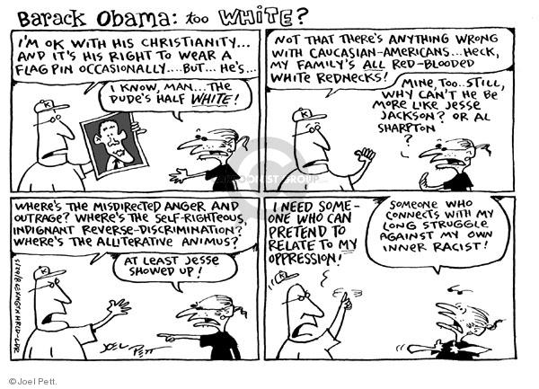 Joel Pett  Joel Pett's Editorial Cartoons 2008-05-29 racism