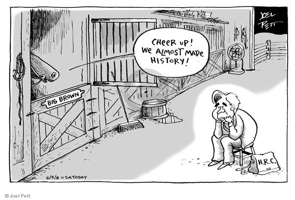 Cartoonist Joel Pett  Joel Pett's Editorial Cartoons 2008-06-09 horse race