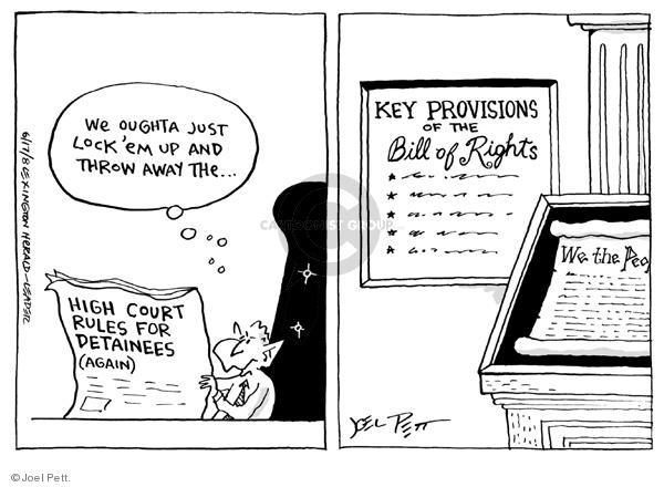 Joel Pett  Joel Pett's Editorial Cartoons 2008-06-17 imprisonment