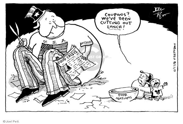 Joel Pett  Joel Pett's Editorial Cartoons 2008-06-23 cost