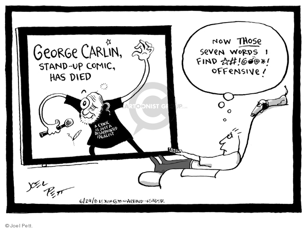 Cartoonist Joel Pett  Joel Pett's Editorial Cartoons 2008-06-24 routine