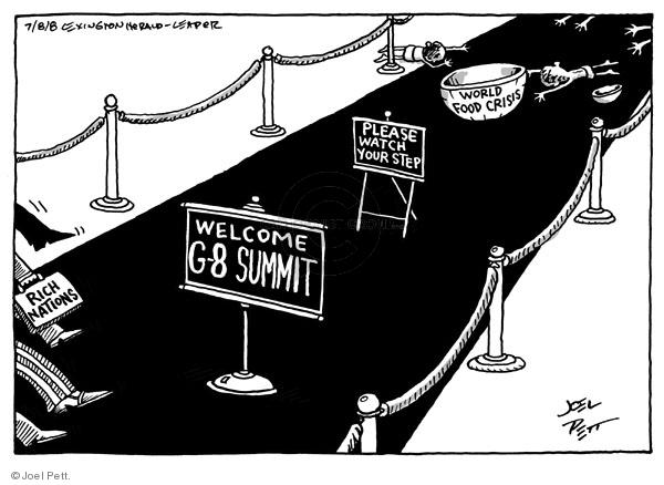 Cartoonist Joel Pett  Joel Pett's Editorial Cartoons 2008-07-08 leader