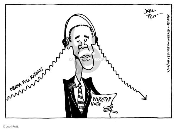 Joel Pett  Joel Pett's Editorial Cartoons 2008-07-10 wiretap