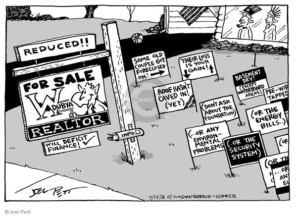 Cartoonist Joel Pett  Joel Pett's Editorial Cartoons 2008-07-15 info