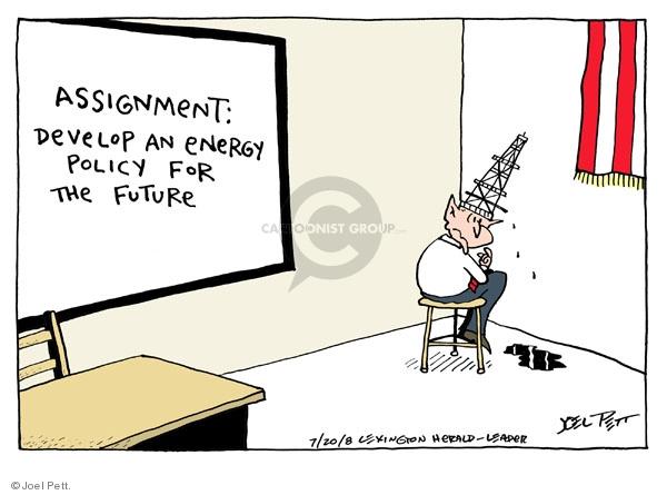 Cartoonist Joel Pett  Joel Pett's Editorial Cartoons 2008-07-20 Dick Cheney
