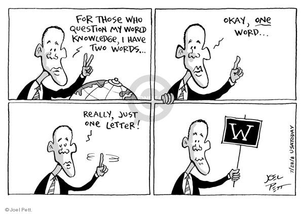 Joel Pett  Joel Pett's Editorial Cartoons 2008-07-28 word