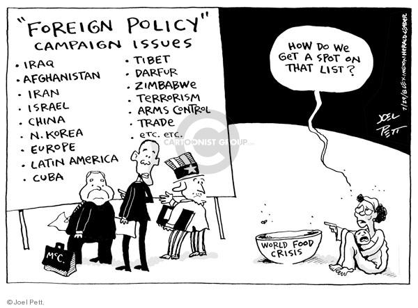 Joel Pett  Joel Pett's Editorial Cartoons 2008-07-29 Iran Israel