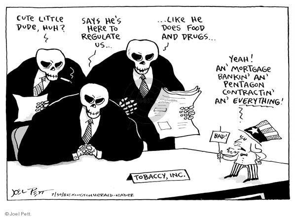 Cartoonist Joel Pett  Joel Pett's Editorial Cartoons 2008-07-30 oversight