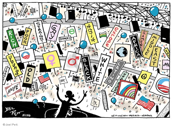 Cartoonist Joel Pett  Joel Pett's Editorial Cartoons 2008-08-29 democratic convention