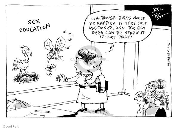 Cartoonist Joel Pett  Joel Pett's Editorial Cartoons 2008-09-14 homosexuality