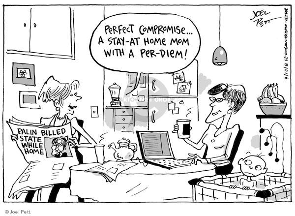 Cartoonist Joel Pett  Joel Pett's Editorial Cartoons 2008-09-12 women candidates