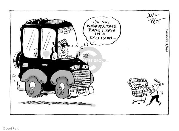 Cartoonist Joel Pett  Joel Pett's Editorial Cartoons 2008-09-15 accident