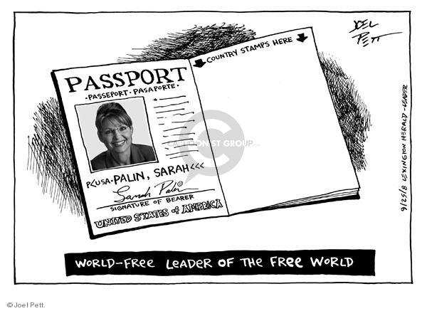 Cartoonist Joel Pett  Joel Pett's Editorial Cartoons 2008-09-25 leader
