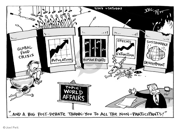 Joel Pett  Joel Pett's Editorial Cartoons 2008-09-29 species extinction
