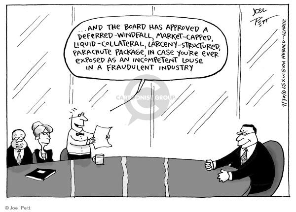 Cartoonist Joel Pett  Joel Pett's Editorial Cartoons 2008-09-30 bank