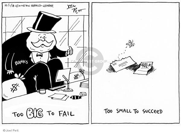 Joel Pett  Joel Pett's Editorial Cartoons 2008-10-01 401k