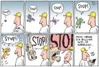 Cartoonist Joel Pett  Joel Pett's Editorial Cartoons 2010-04-22 extinct animal