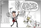 Cartoonist Joel Pett  Joel Pett's Editorial Cartoons 2011-08-09 2012 election religion