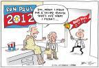 Cartoonist Joel Pett  Joel Pett's Editorial Cartoons 2012-01-12 2012 primary
