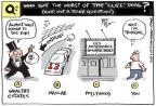 Cartoonist Joel Pett  Joel Pett's Editorial Cartoons 2013-01-03 estate tax