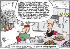 Cartoonist Joel Pett  Joel Pett's Editorial Cartoons 2013-12-20 TMI