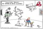 Cartoonist Joel Pett  Joel Pett's Editorial Cartoons 2014-04-09 Bush tax cut