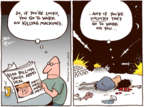 Cartoonist Joel Pett  Joel Pett's Editorial Cartoons 2017-05-23 Donald Trump